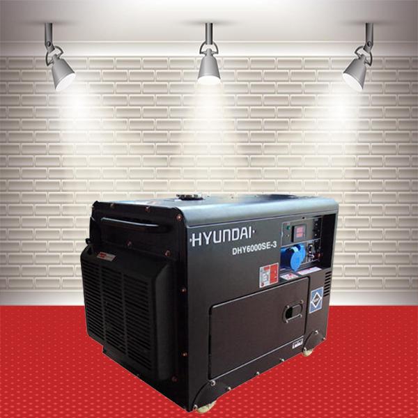Máy phát điện Hyundai DHY-6000SE-3Pha